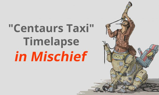 """Centaurs Taxi"" Mischief Painting (Commented Timelapse)"