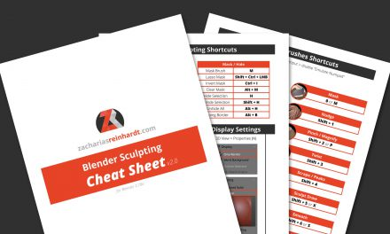 Blender Sculpting Cheat Sheet