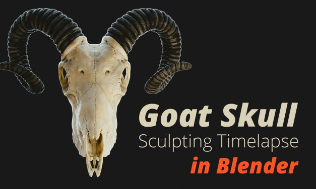 Goat Skull Creation in Blender (Commented Timelapse)