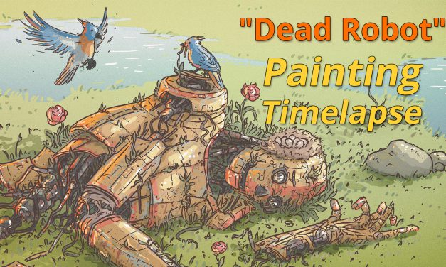 """Dead Robot"" Mischief / Photoshop Painting (Timelapse)"