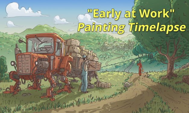 """""""Early at Work"""" Mischief / Photoshop Painting (Timelapse)"""