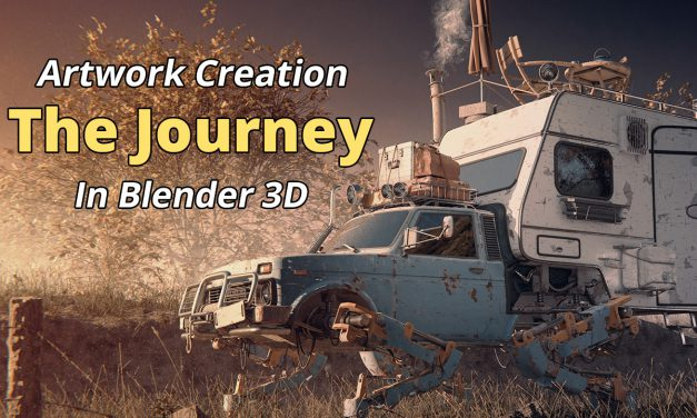 """The Journey"" Artwork Creation in Blender 3D"