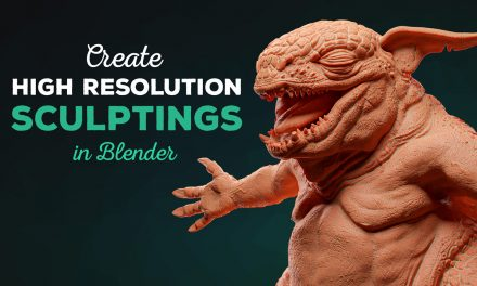 Create High Resolution Sculptings in Blender