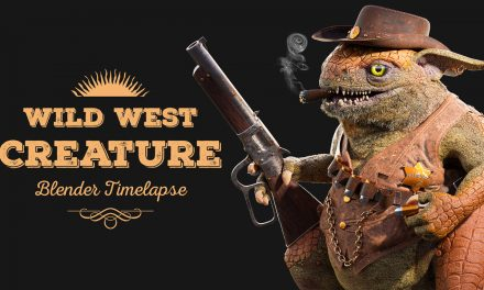 Wild West Creature Creation (Blender Timelapse)